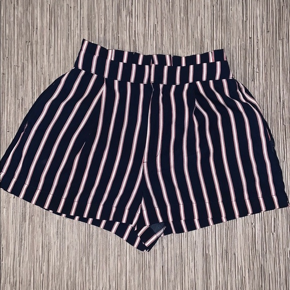 Forever 21 Pants - Forever 21 Striped Paper Bag Shorts